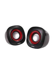 Intex IT-355 Wired 2.0 Multimedia Speaker, Black