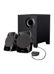 Creative A12R2 Wired Multimedia Laptop/Desktop Speaker, Black