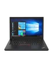 Lenovo ThinkPad T480, 14 inch, Intel Core i7-8550U 8th Gen 4.00GHz, 256GB SSD, 8GB RAM, Integrated Intel UHD 620 Graphics, EN Keyboard, Win 10 Pro, 20L50004AD, Black