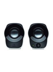 Logitech Z120 Wired Compact Stereo Speaker, Black/White