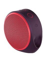 Logitech X100 Wireless & Wired Portable Bluetooth Speaker, Red/Purple
