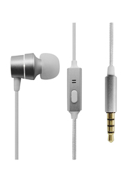 Anker SoundBuds Mono In-Ear Noise Cancelling Headphones, Silver